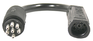 Phillips Industries' new 'plug n' play' STA-DRY Harness Adapter connects the round male style of the 36 series to the SLIM-7 female style of the 34 series.