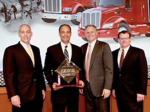 Darrin Siver, PACCAR Parts General Manager and PACCAR Vice President; Frank Anglin, Western Peterbilt – Spokane; Bill Kozek, Peterbilt General Manager and PACCAR Vice President; and Tony McQuary, PACCAR Parts General Sales Manager.