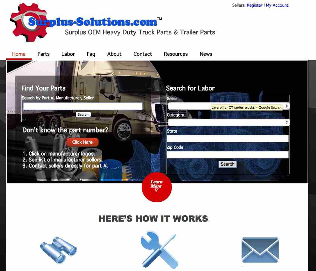 Surplus-Solutions com upgrades website