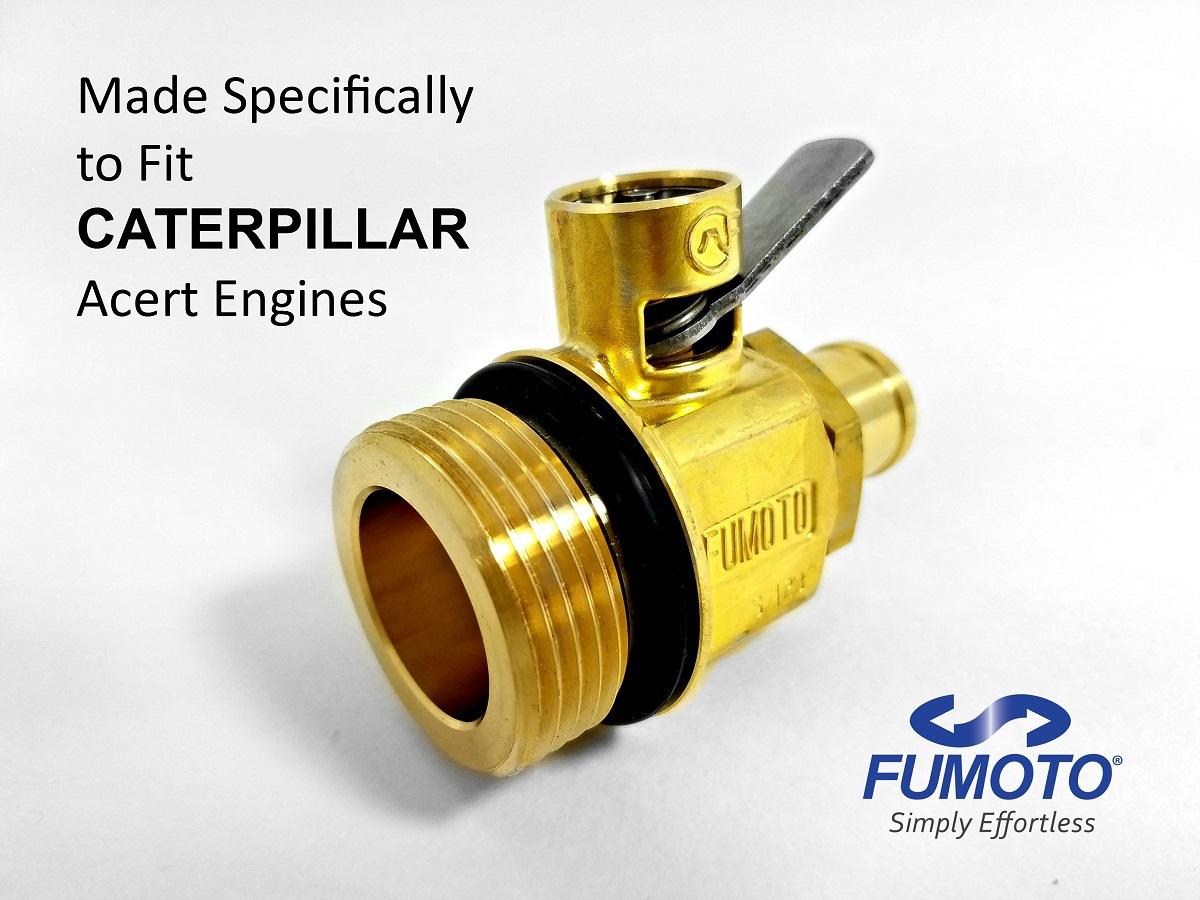 Fumoto Oil Drain Valves Built For Caterpillar Engines