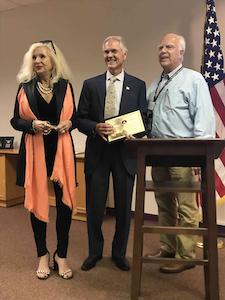 Award being received