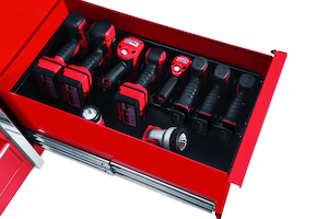 snap-on toolbox with charging port