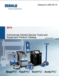 2018 Mahle Commercial Vehicle Service Tools and Equipment Product Catalog