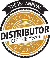 logo for the 16th annual truck parts & service distributor of the year award