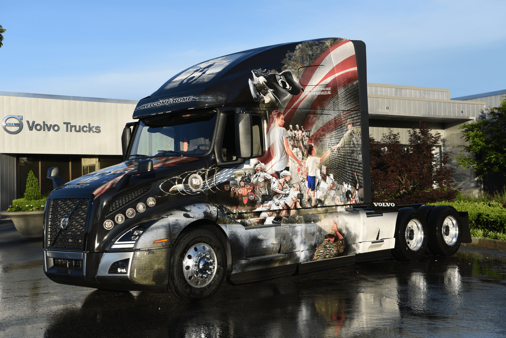Volvo And Mack Honor Military Personnel With Custom Trucks