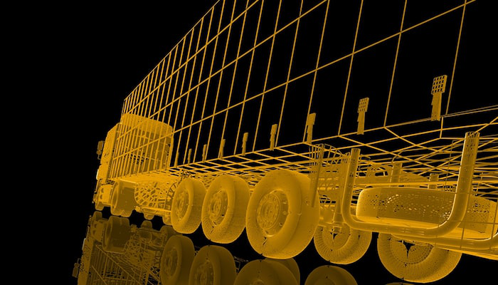 Stock wireframe image of truck