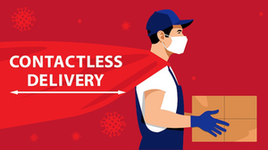 contactless delivery due to covid