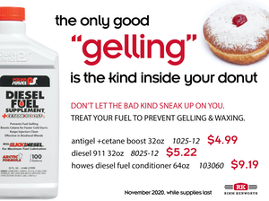 """An example of a print marketing ad that says """"the only good gelling is the kind inside your donut"""""""