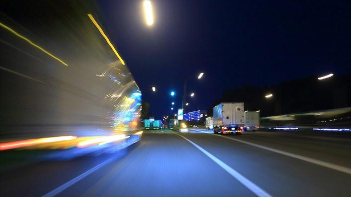 roadway with trucks