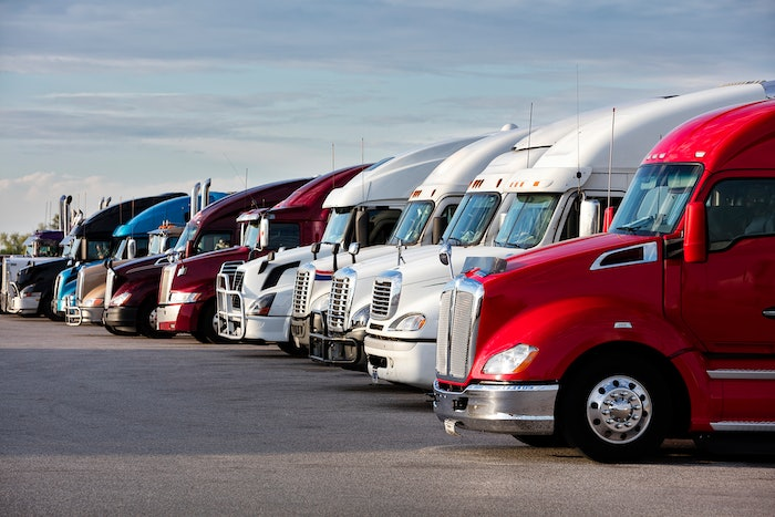 Group Of Trucks Parked