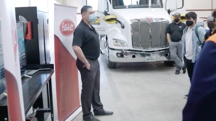 Informational video taken at a recent Peterbilt visit to Taylor High School highlighting what the program will look like with students and faculty in the fall.