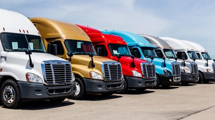 New trucks in lot