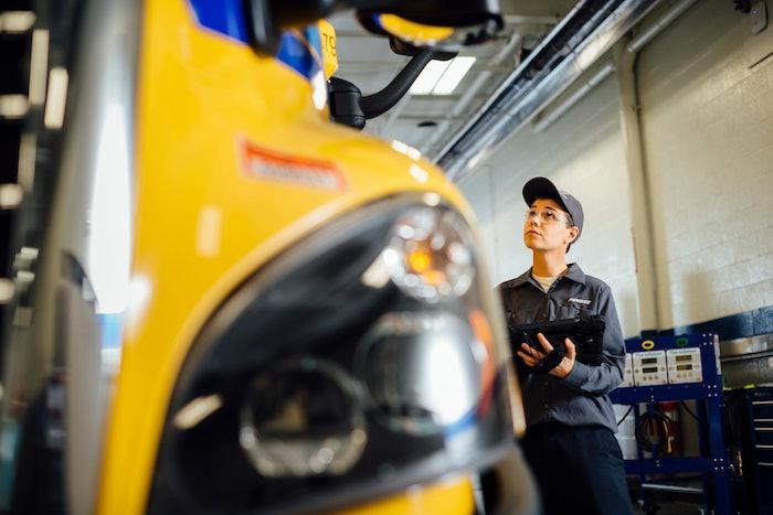 Penske maintenance technician at work