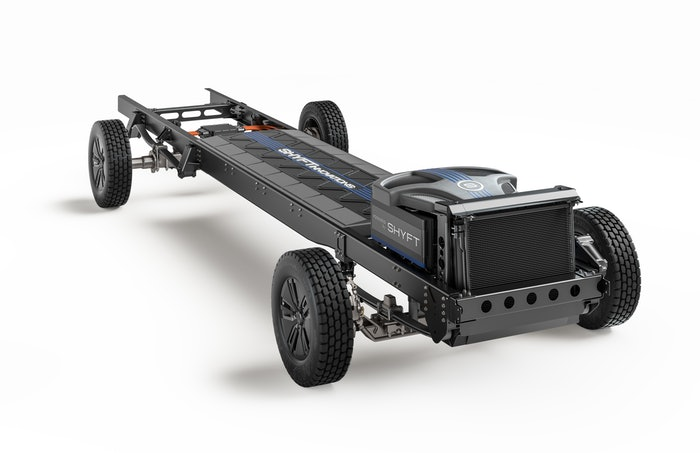 The Shyft Group's new all-electric Class 3 chassis