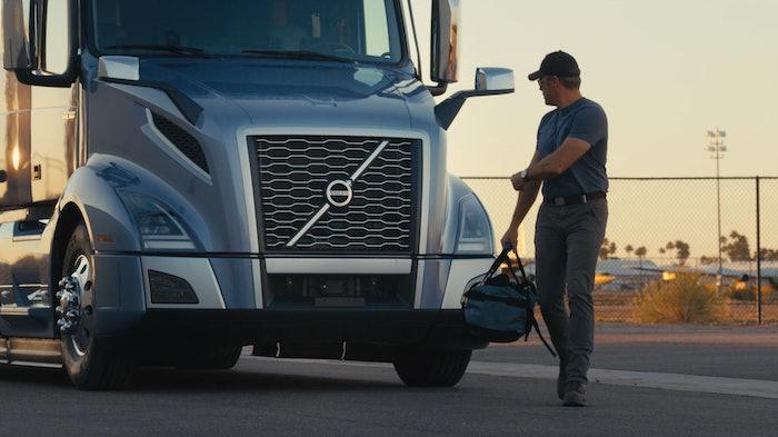 Volvo truck driver