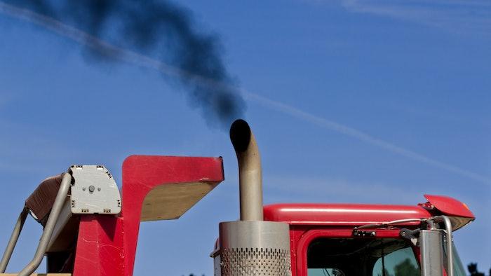 Truck emissions smoke