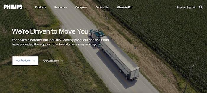 Phillips screen cap of website
