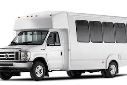 Lightning eMotors shuttle bus.