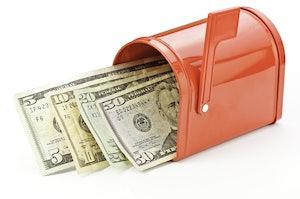 Cash in a mailbox