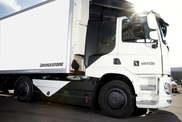 Einride truck with Bridgestone tires