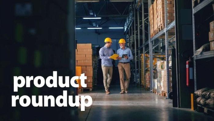 Employees walking through warehouse