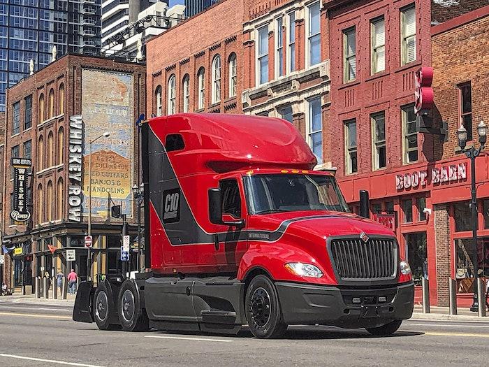 FlowBelow products on International truck