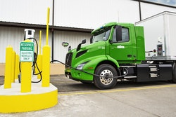 Volvo VNR electric truck charging