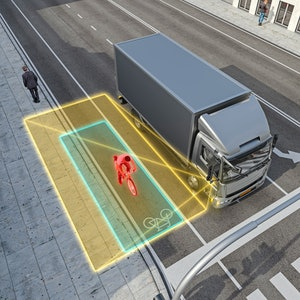 Continental's Turn Assist delivers new technology for commercial vehicles and RVs that makes roads safer for pedestrians and cyclists by actively monitoring the vehicle's blind spots during right-hand turns.