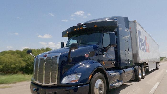 Autnomous FedEx truck