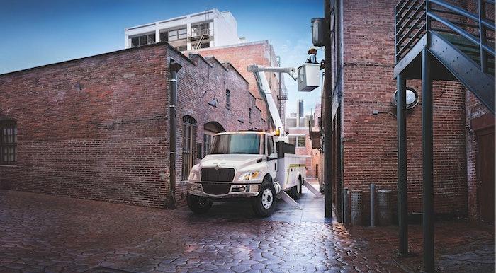 International redesigned medium-duty truck