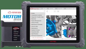 MOTOR repair database on tablet