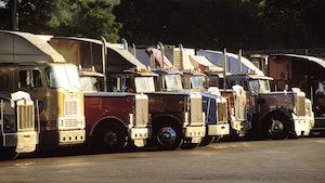 Older used trucks on lot