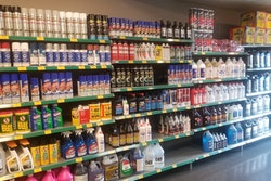 shelves stocked with auto maintenance products